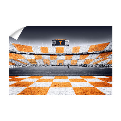 Tennessee Volunteers - Reverse Checkerboard - College Wall Art #Wall Decal