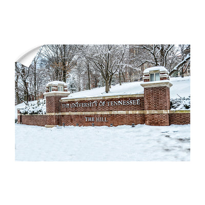 Tennessee Volunteers - Snowy Hill - College Wall Art #Wall Decal