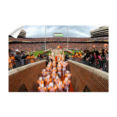 Tennessee Volunteers - Running Onto the Field 2016 - College Wall Art #Wall Decal