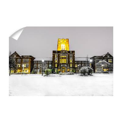 Tennessee Volunteers - Ayres Hall Winter Day - College Wall Art #Wall Decal