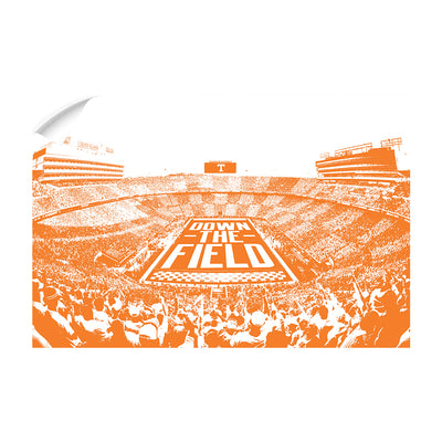 Tennessee Volunteers - Down The Field - College Wall Art #Wall  Decal