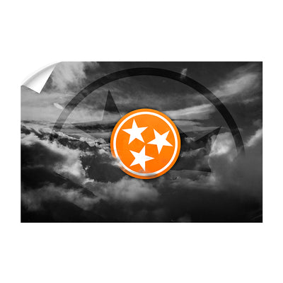 Tennessee Volunteers - Smokey Tri Star - College Wall Art #Wall Decal