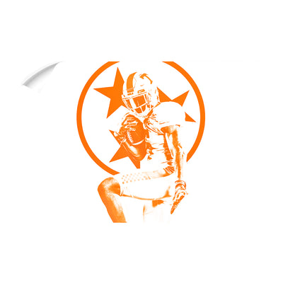 Tennessee Volunteers - Heisman Tri Star - College Wall Art #Wall Decal