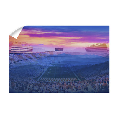 Tennessee Volunteers - Tennessee Mountain Sunset - College Wall Art #Wall Decal