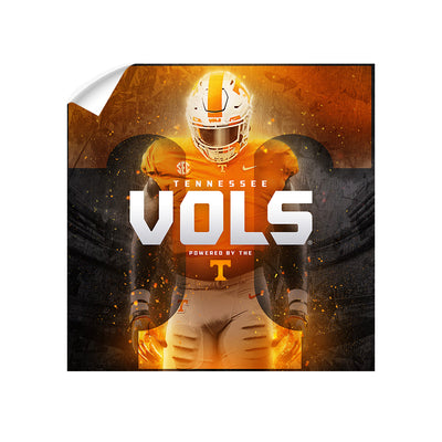 Tennessee Volunteers - Powered By The T Vols - College Wall Art #Wall Decal