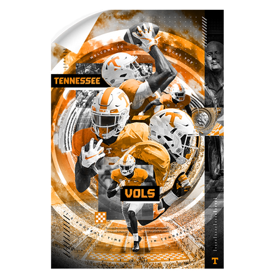 Tennessee Volunteers - Football Time - College Wall Art #Wall Decal