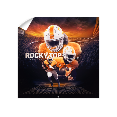 Tennessee Volunteers - Rocky Top Sunset - College Wall Art #Wall Decal