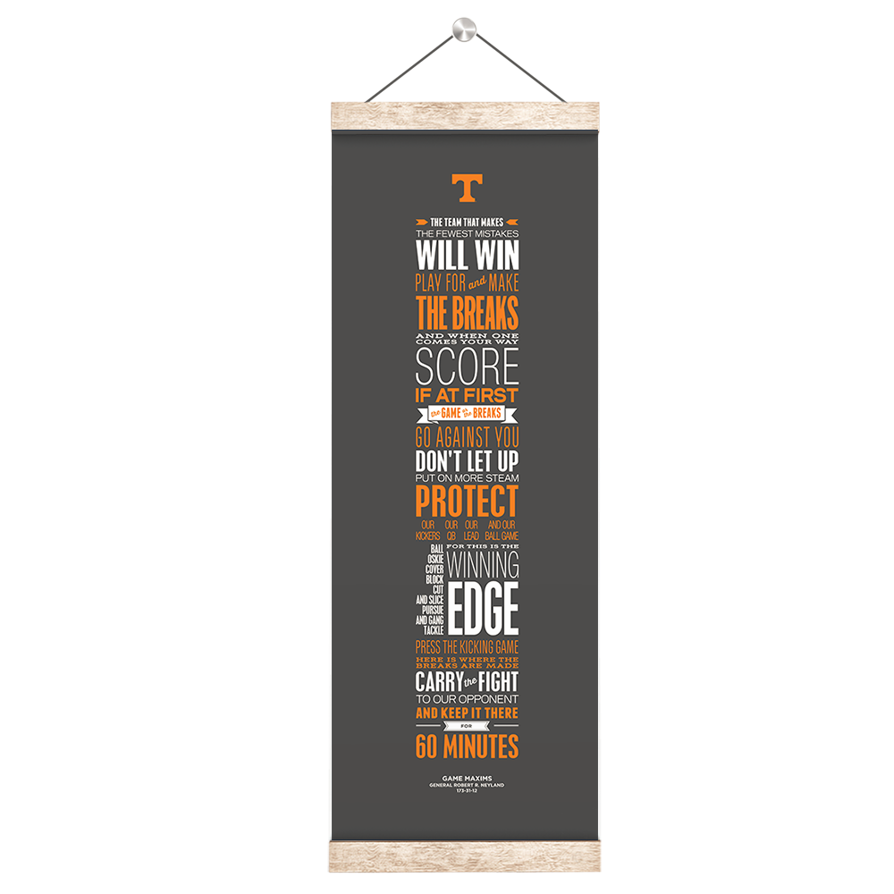 Tennessee Volunteers - Game Maxims Grey - College Wall Art #Canvas