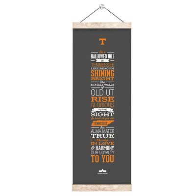 Tennessee Volunteers - Alma Mater Grey - College Wall Art #Hanging Canvas
