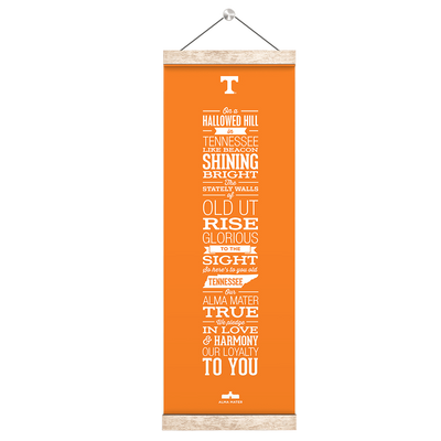 Tennessee Volunteers - Alma Mater Orange - College Wall Art #Hanging Canvas