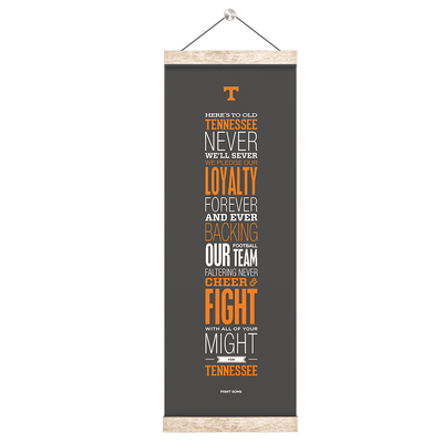 Tennessee Volunteers - Fight Song Grey - College Wall Art #Hanging Canvas