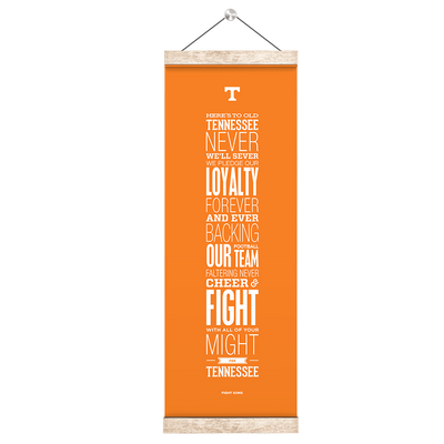 Tennessee Volunteers - Fight Song Orange - College Wall Art #Hanging Canvas