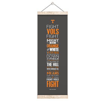 Tennessee Volunteers - Fight Vols Fight Grey - College Wall Art #Hanging Canvas