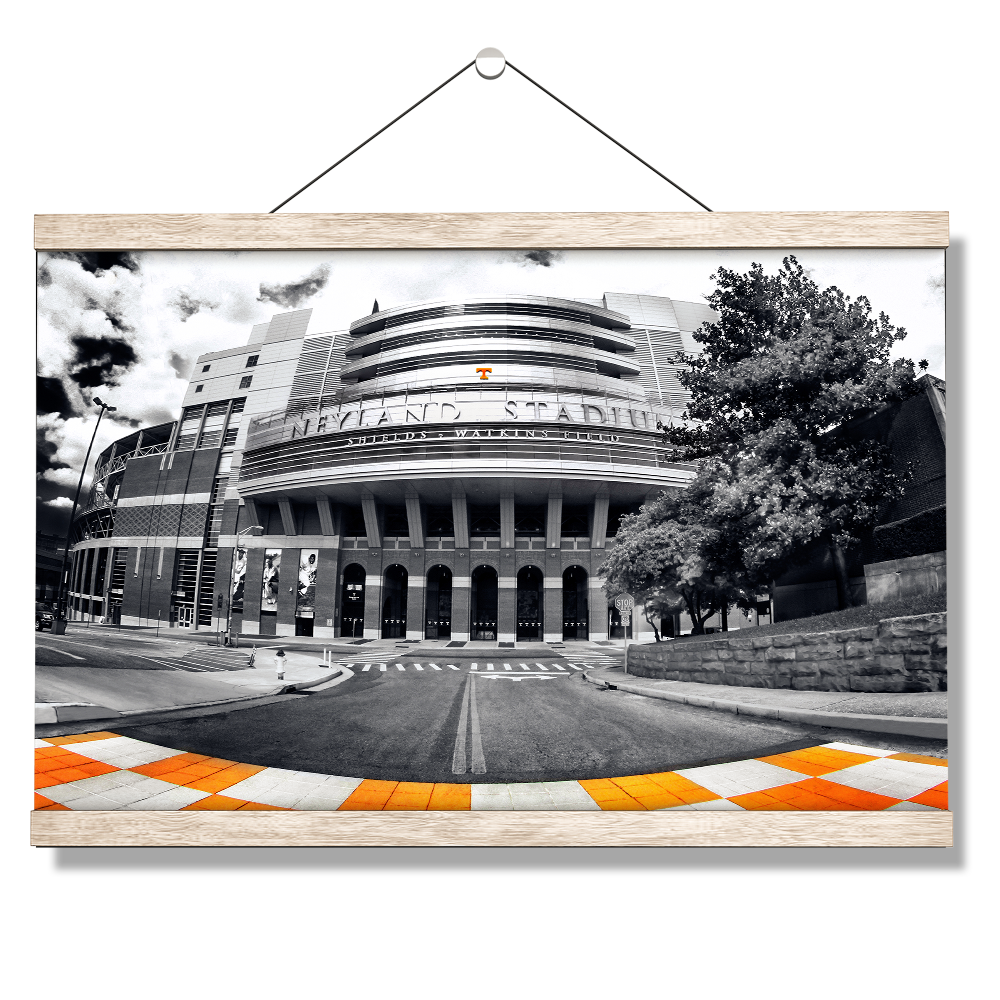 Tennessee Volunteers - Neyland B&W - College Wall Art #Canvas