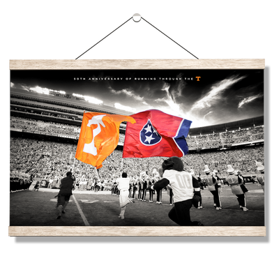 Tennessee Volunteers - 50 Years Running Through the T - College Wall Art #Hanging Canvas