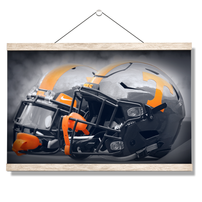 Tennessee Volunteers - Smokey Gray Helmets - College Wall Art #Hanging Canvas