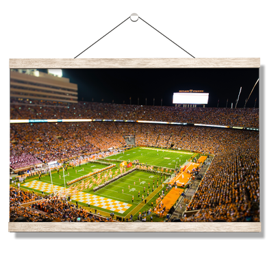 Tennessee Volunteers - Running Through the T 2015 - College Wall Art #Hanging Canvas