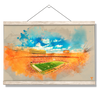Tennessee Volunteers - Neyland Watercolor - College Wall Art #Hanging Canvas