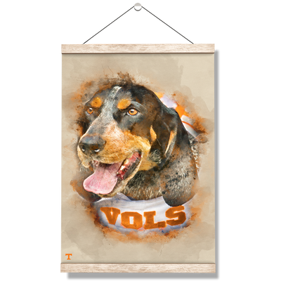 Tennessee Volunteers - Smokey Watercolor - College Wall Art #Hanging Canvas