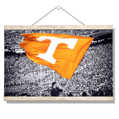 Tennessee Volunteers - Smokey Flag - College Wall Art #Hanging Canvas