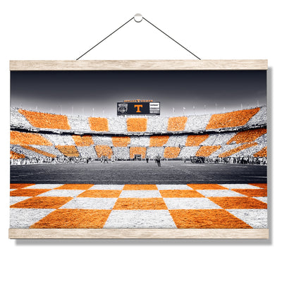 Tennessee Volunteers - Reverse Checkerboard - College Wall Art #Hanging Canvas