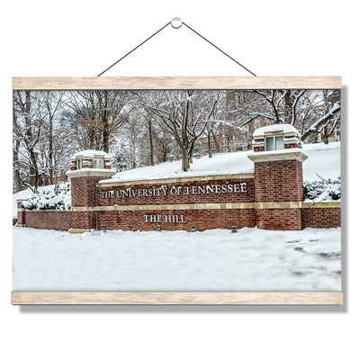Tennessee Volunteers - Snowy Hill - College Wall Art #Hanging Canvas
