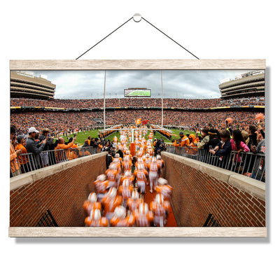 Tennessee Volunteers - Running Onto the Field 2016 - College Wall Art #Hanging Canvas