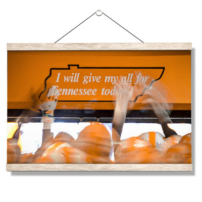Tennessee Volunteers - Give My All - College Wall Art #Hanging Canvas