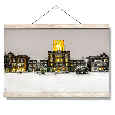 Tennessee Volunteers - Ayres Hall Winter Day - College Wall Art #Hanging Canvas