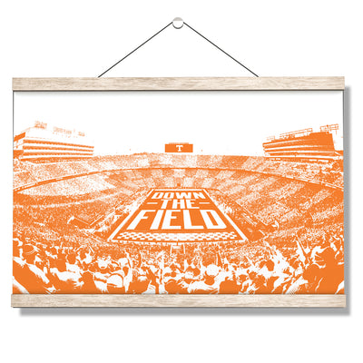 Tennessee Volunteers - Down The Field - College Wall Art #Hanging Canvas