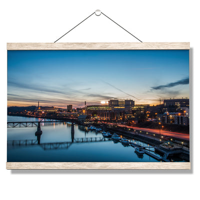 Tennessee Volunteers - River Night - College Wall Art #Hanging Canvas