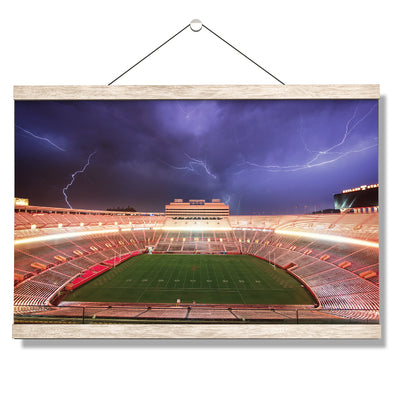 Tennessee Volunteers - Lightning Over Neyland - College Wall Art #Hanging Canvas
