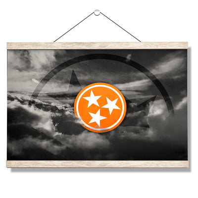Tennessee Volunteers - Smokey Tri Star - College Wall Art #Hanging Canvas