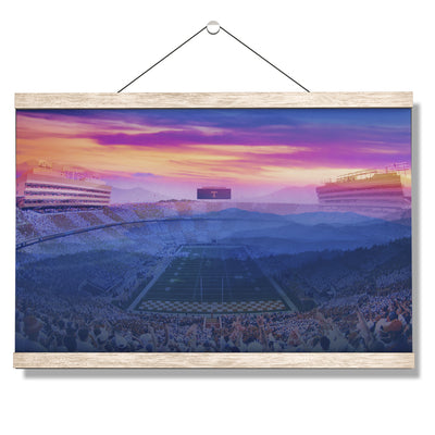 Tennessee Volunteers - Tennessee Mountain Sunset - College Wall Art #Hanging Canvas