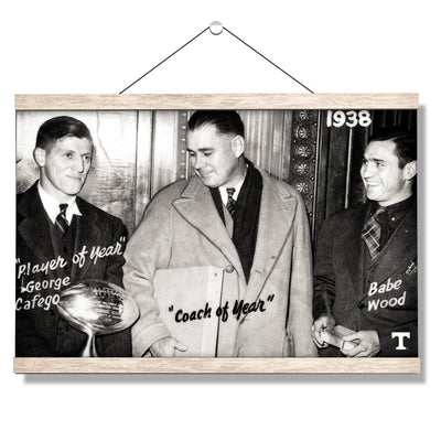 Tennessee Volunteers - Vintage Coach of the Year 1938 - College Wall Art #Hanging Canvas