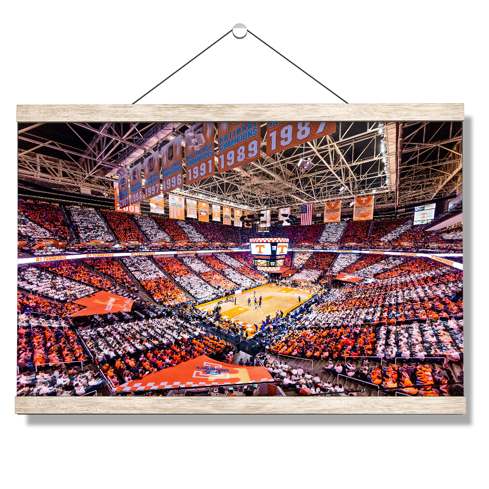 Tennessee Volunteers - Checkerboard Thompson-Boling #1 Tennessee - College Wall Art #Canvas