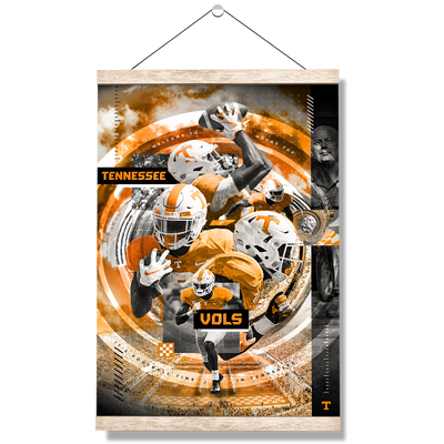 Tennessee Volunteers - Football Time - College Wall Art #Hanging Canvas