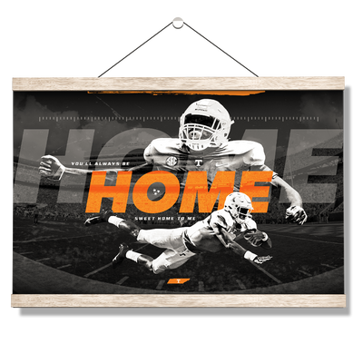 Tennessee Volunteers - Home - College Wall Art #Hanging Canvas