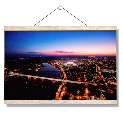 Tennessee Volunteers - Aerial sunset over Neyland - College Wall Art #Hanging Canvas