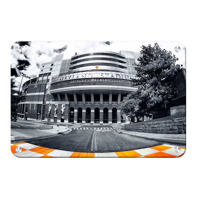 Tennessee Volunteers - Neyland B&W - College Wall Art #Metal