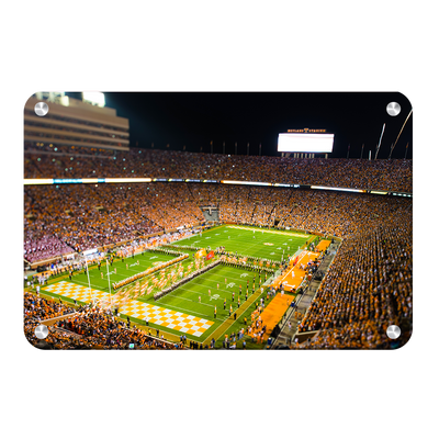 Tennessee Volunteers - Running Through the T 2015 - College Wall Art #Metal