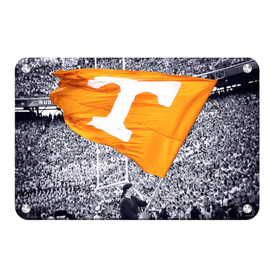 Tennessee Volunteers - Smokey Flag - College Wall Art #Metal