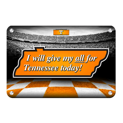Tennessee Volunteers - Give My All For TN - College Wall Art #Metal