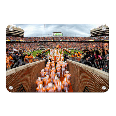 Tennessee Volunteers - Running Onto the Field 2016 - College Wall Art #Metal