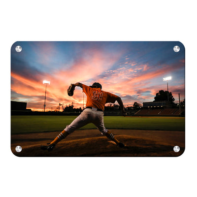 Tennessee Volunteers - Sunset Pitch - College Wall Art #Metal