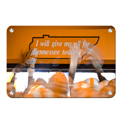 Tennessee Volunteers - Give My All - College Wall Art #Metal