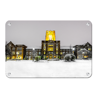 Tennessee Volunteers - Ayres Hall Winter Day - College Wall Art #Metal