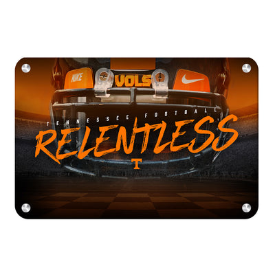 Tennessee Volunteers - Relentless - College Wall Art #Metal