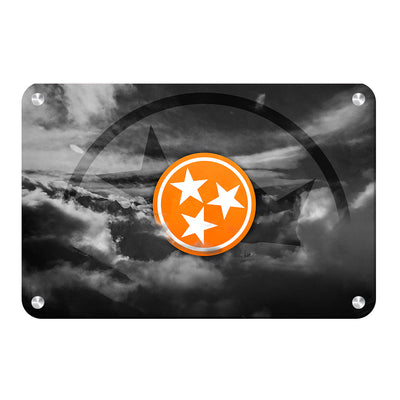 Tennessee Volunteers - Smokey Tri Star - College Wall Art #Metal