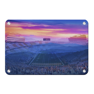 Tennessee Volunteers - Tennessee Mountain Sunset - College Wall Art #Metal